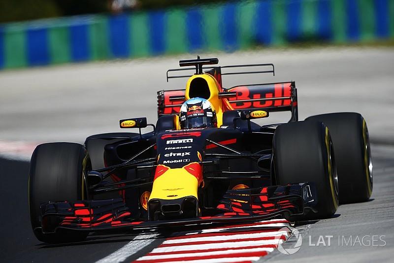 Ricciardo arrancó adelante en Hungría