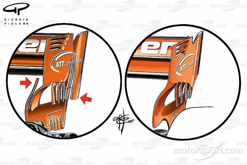 Análisis técnico: McLaren planea mejorar su aerodinámica trasera