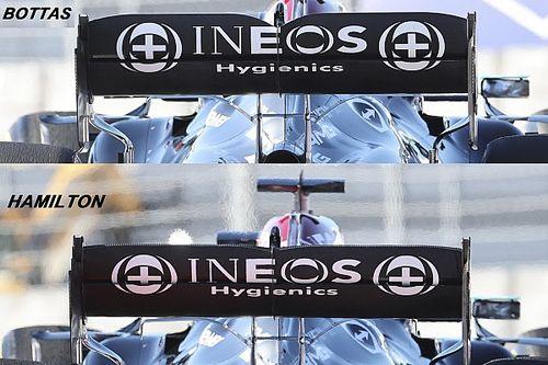 Mercedes: scelto l'assetto aero più scarico di Bottas