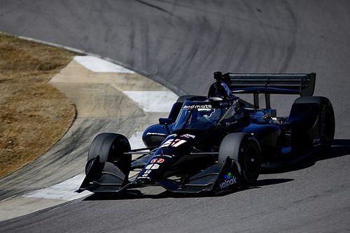 Grosjean contento con su test en IndyCar a pesar del trompo y el dolor