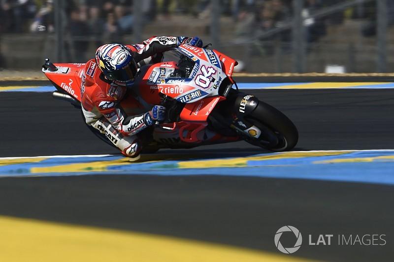 Dovizioso cerró el viernes con un nuevo récord en Le Mans