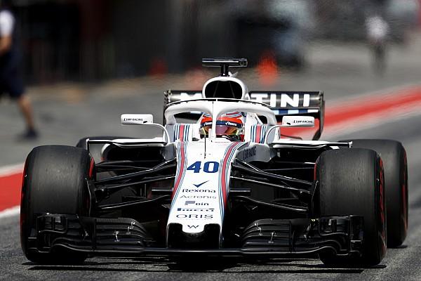 Kubica au volant de la Williams lors des tests de Hongrie