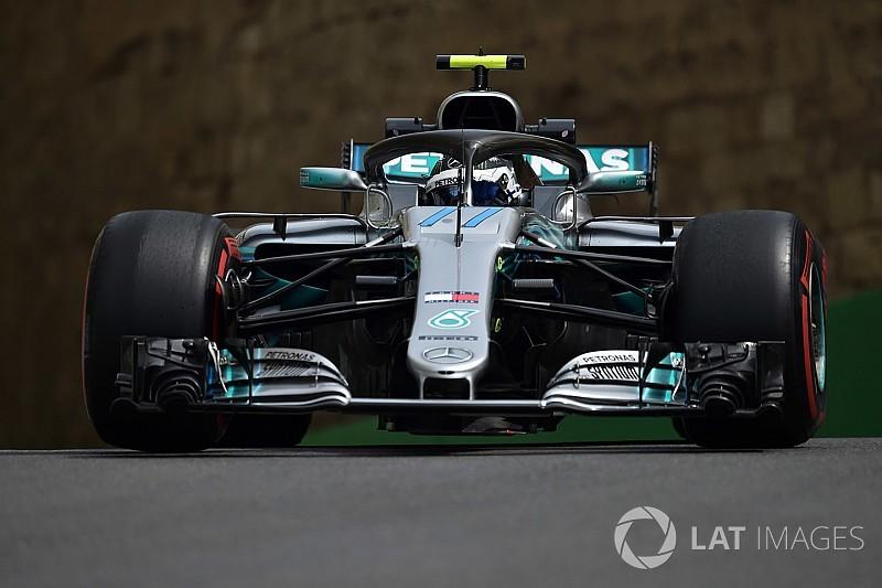 Azerbaycan GP 1. antrenman: Bottas lider, Verstappen kaza yaptı