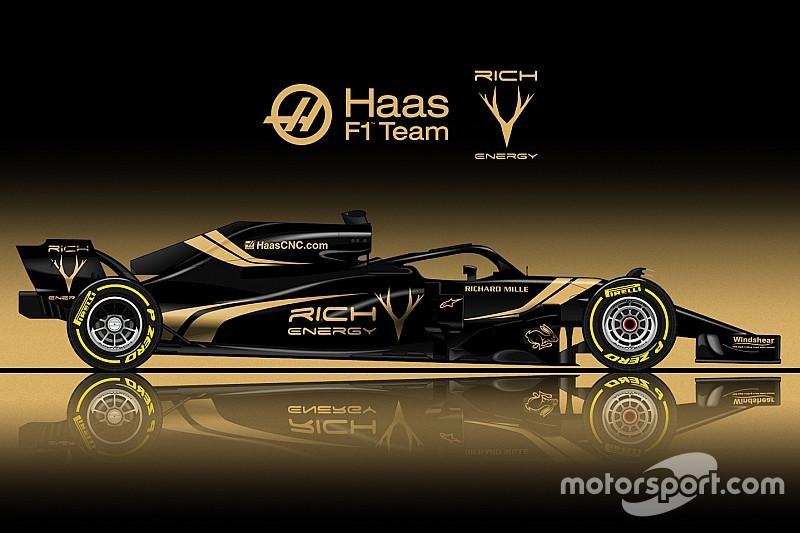 Як може виглядати болід Haas у чорно-золостистих кольорах Rich Energy