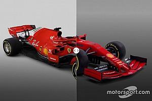 Vergleich Design Formel-1-Autos 2018 vs. 2019: Ferrari
