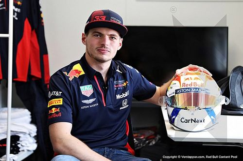 GALERÍA: el nuevo diseño de casco de Max Verstappen