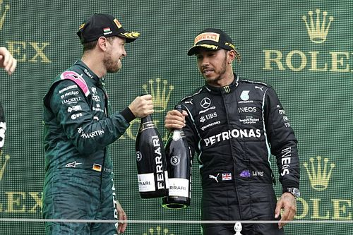 Hamilton 'proud' of Vettel for F1 stand with 'Same Love' t-shirt