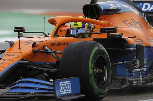 F1ロシア予選:勇気の決断、ノリスが初PP! タイヤ交換遅れたハミルトンは4番手、角田裕毅は13番手