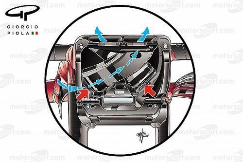 Ferrari: ecco come funziona l'S-duct con l'incrocio dei due condotti