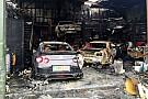 OTOMOBİL Nissan GT-R mağazası tüm araçlarla birlikte yandı