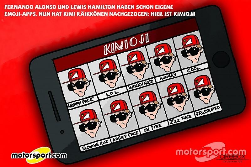 Cirebox: Die Sache mit der Emoji-App von F1-Fahrer Kimi Räikkönen