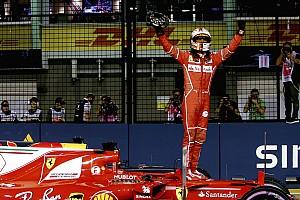 F1 速報ニュース シンガポールGP予選:ベッテル、逆境跳ね返す神業ラップでポール獲得