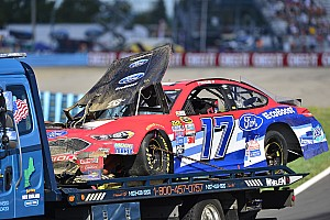 NASCAR Cup Breaking news Stenhouse triggers race-stopping crash at Watkins Glen - video