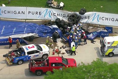 Indy: Felix Rosenqvist sofre forte acidente na Corrida 1 de Detroit