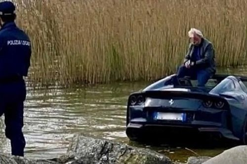 Nem húzta be a kéziféket a sofőr, a Garda-tóban végezte a vadiúj Ferrari 812 GTS
