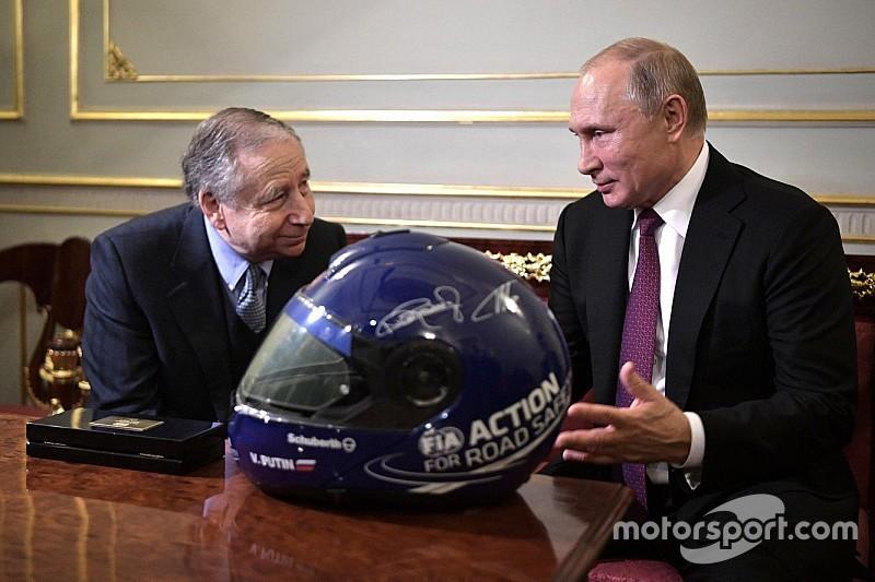 Jean Todt y Vladimir Putin se reunieron en Rusia