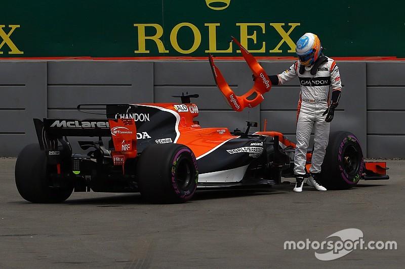 """Un vendredi """"complètement gâché"""" pour Alonso"""