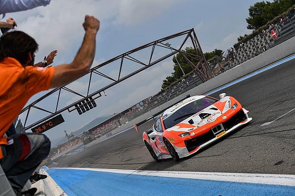 Ferrari Gara Al Paul Ricard centrano la vittoria Di Amato, Rocca e Hassid