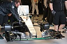 La Mercedes è scesa in pista senza l'S-duct