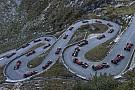 Буэми проехал по серпантину в Альпах на машине Ф1