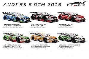 DTM Спеціальна можливість Галерея: Audi показала лівреї машин DTM-2018