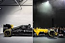 F1 Comparación visual del Renault RS16 vs RS17