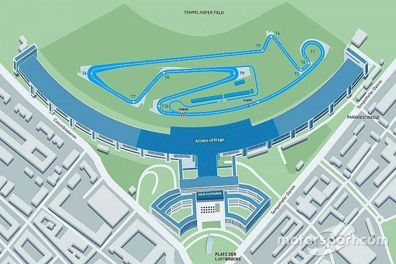 【フォーミュラE】今季のベルリンePrixのコースレイアウトが公開