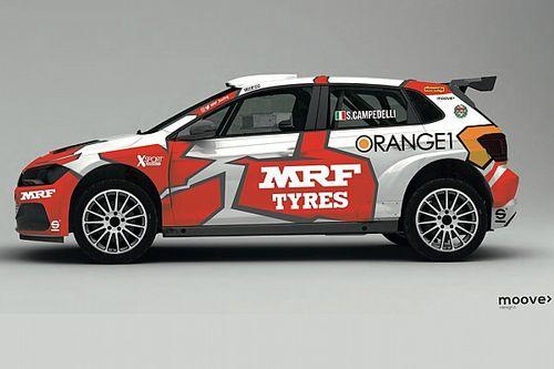 Campedelli nell'ERC con la Volkswagen del Team MRF Tyres