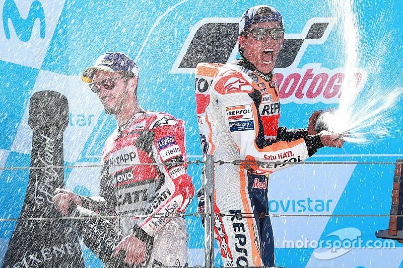 Aragon MotoGP: Marquez kazandı, Lorenzo kaza yaptı