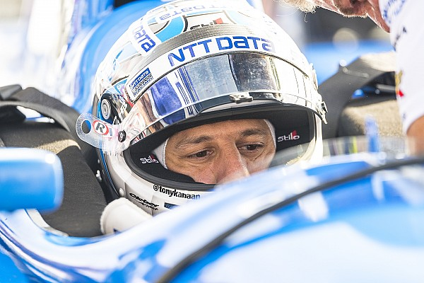 Indy 500: Kanaan leads, Harvey shunts at halfway point of first practice
