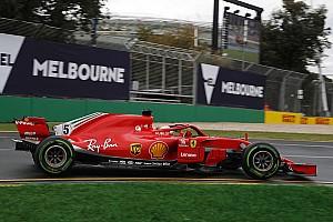 Vettel snelste op opdrogende baan in Melbourne, vierde tijd Verstappen