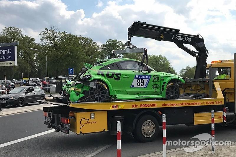 24h Nürburgring 2018: Böser Unfall im zweiten Zeittraining