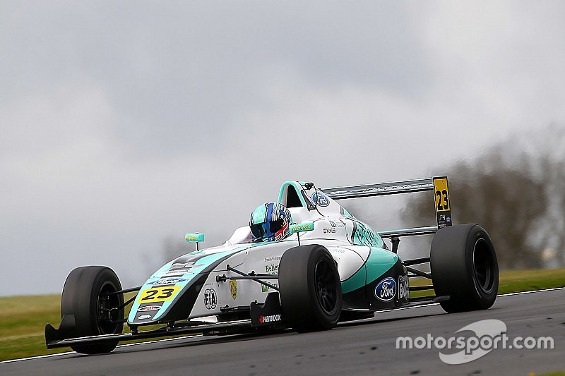 F4 racer Monger suffers leg injuries in horror Donington crash