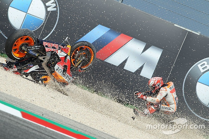 Marquez was riding with