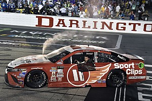 NASCAR Cup Breaking news Both Hamlin's Cup and Xfinity wins at Darlington deemed encumbered