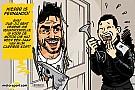 Cartoon van Cirebox - Alonso in 'The Shining'
