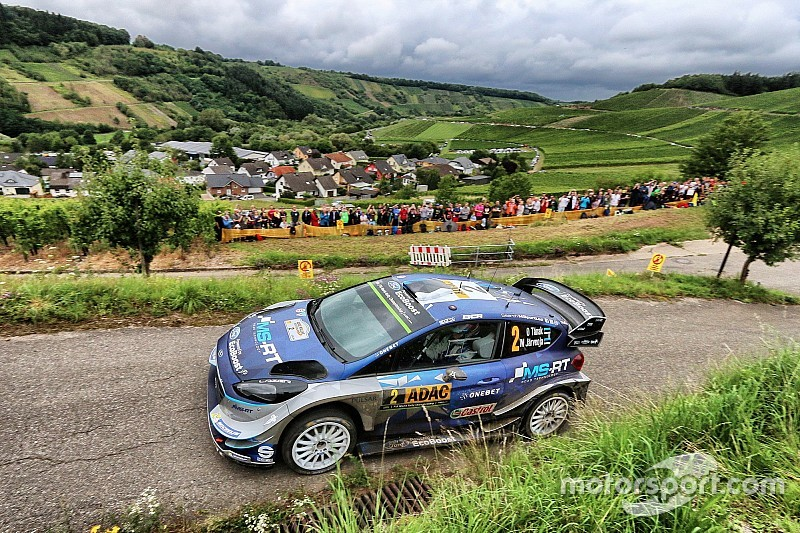 Germany WRC: Tanak takes 21-second lead into final day