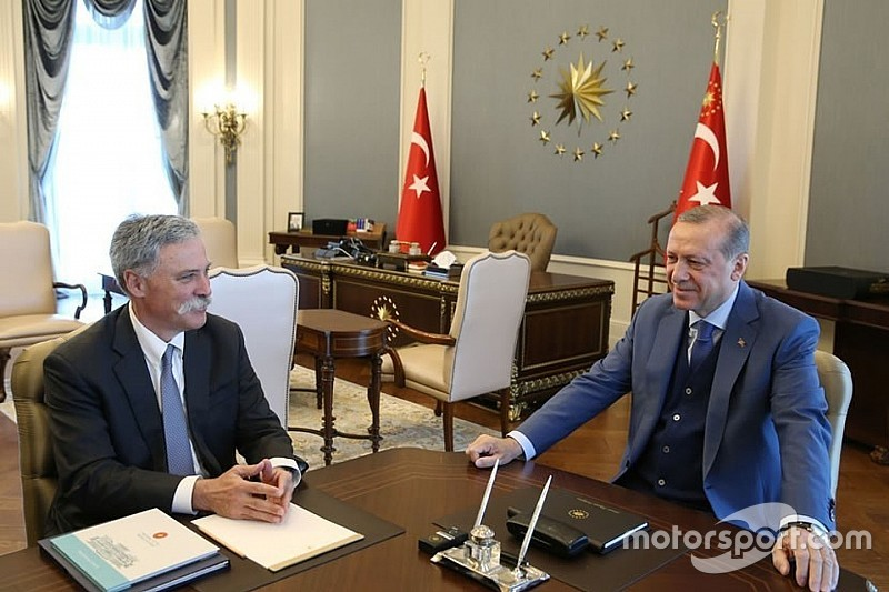 """Turkey F1 return """"agreed in principle"""" after Carey meets President"""