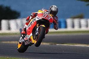 MotoGP Test Test Phillip Island, Day 1: Marquez al top, Valentino rischia ma è vicino