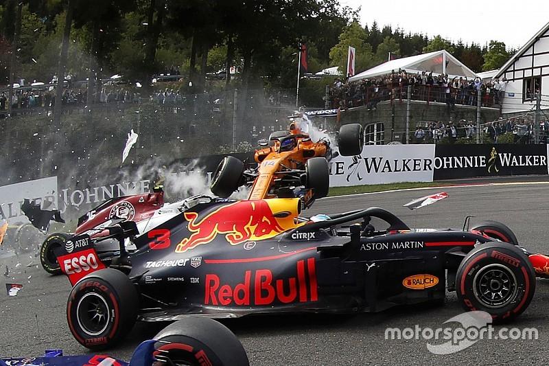 Gallery: Belgian GP first-corner pileup in full