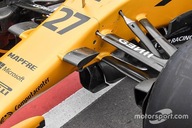 Renault: turning vanes a tunnel e barge board con il... rastrello