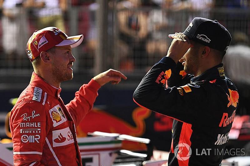 """Daniel Ricciardo zu Ferrari? Sebastian Vettel sagt: """"Mir egal!"""""""