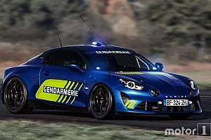 Automotive News Alpine A110 für Verbrecherjagd