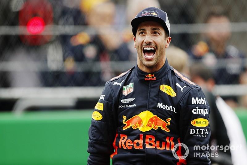 Ricciardo urla di gioia: