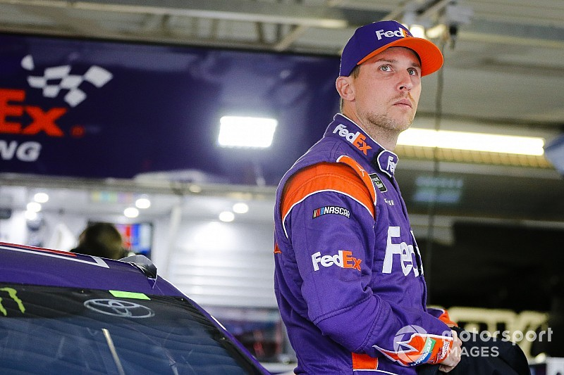 Denny Hamlin almost steals win at Martinsville Speedway