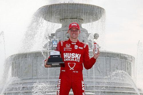 インディカー第7戦デトロイト・レース1:エリクソンがインディ初優勝。佐藤琢磨4位