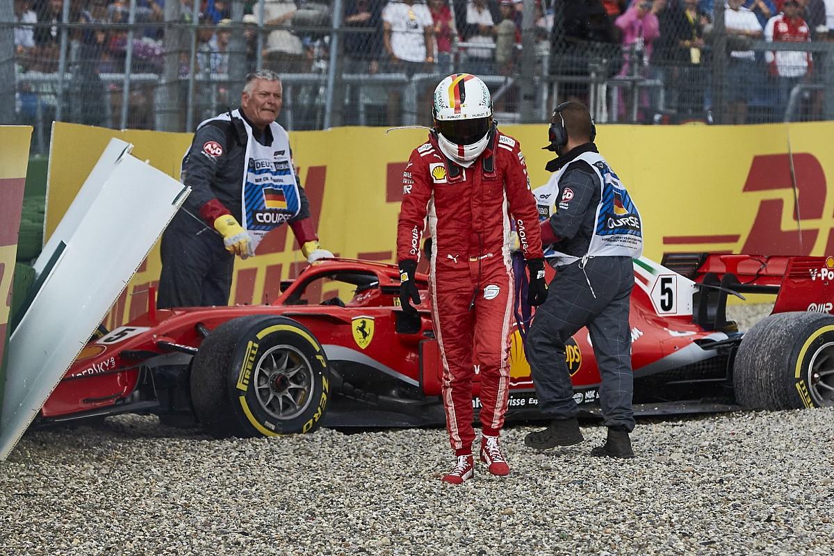 Panca no muro: Vettel no olho do furacão após GP de casa