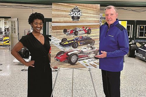 Indy 500 program cover features art by Johnny Rutherford