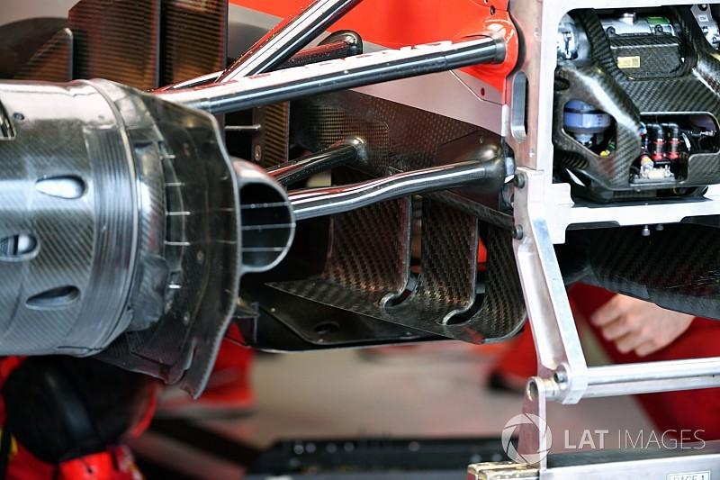 GALERÍA TÉCNICA: las actualizaciones de los F1 para Monza