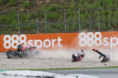 Fotos: la accidentada carrera de MotoGP en Barcelona